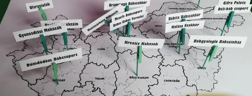 Bábcsoportok a térképen II.